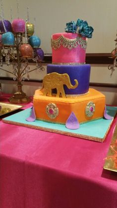 Moroccan Baby Shower Cake Made By Kimu0027s Kreationz  Houston, Texas