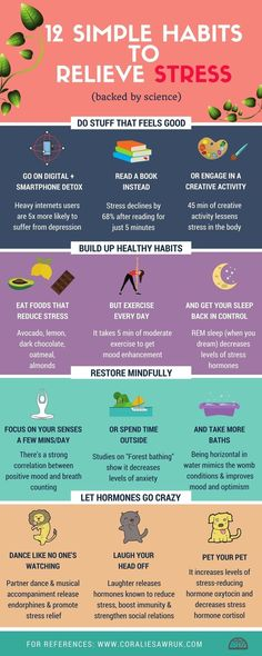 12 simple habits to relieve stress [infographic]