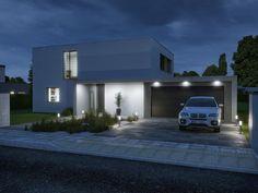 Stavba rodinných domů, projekty rodinných domů - Nabízíme jak typové projekty, tak i projekty na míru s naším unikátním stavebním systémem Durisol. Luxury House Plans, Small House Design, House Layouts, Home Fashion, Brick, Garage Doors, Minimalist, Construction, How To Plan