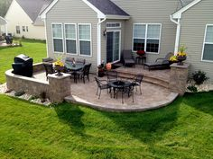 Do you need inspirations to make some Backyard Patio Designs in your Home? The major reason people should develop their patio is due to the fresh air. The patio is where you're able to relax away from the home. Concrete Patios, Concrete Patio Designs, Pergola Design, Backyard Patio Designs, Brick Patios, Backyard Landscaping, Landscaping Ideas, Stone Patio Designs, Modern Backyard