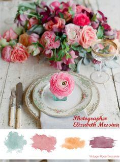 Vintage Rose Brocante Colour Palette - Photograph Elizabeth Messina