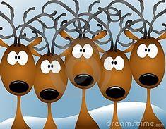 Cartoon Reindeer Christmas Card Stock Illustration - Illustration of christmas, illustrations: 3706626