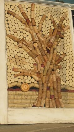 Wine cork art