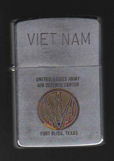 Vintage Vietnam Zippo Lighters   1968 Vietnam Zippo Lighter Acid Etched Ft. Bliss.   #VietnamMemories