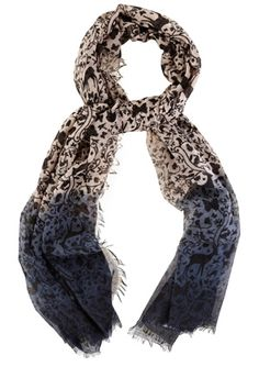 Ombre Woodland Print Scarf