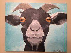 (goat painting, goat nursery, farm nursery, kid room print, farm decor, goat decor, close up goat, goat print)    This is a print from my original