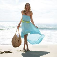 Women's Ruffle High-Low Dress