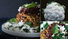 Live In Italian - Whole Roasted Cauliflower with Sun-Dried Tomato Vinaigrette & Kale Risotto