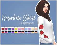 600 followers gift 5/?: Rosaline ShirtSo I saw this shirt on ASOS' instagram a few days ago and I figured I'd make it for sims because who doesn't need a shirt with roses! :^D Anyway, it's really just...