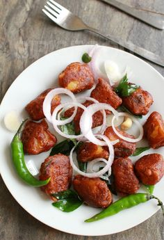 Aloo 65 recipe - Crispy starter made with tender cooked potatoes and Indian spices