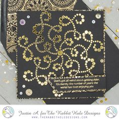 This project uses the Sassy Birthday 1 set and Dotted Flower Stencil from The Rabbit Hole Designs. Check out my blog for more details!