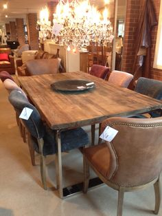 Timothy Oulton Axel dining table with mimi chairs. Perfection!!