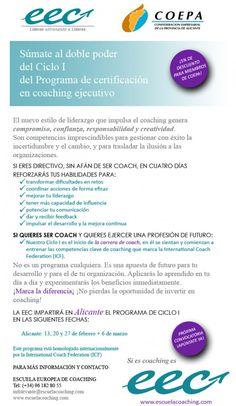 I Ciclo de Certificación en Coaching Ejecutivo. Prox. 13 de febrero en COEPAPuerta10. ¿Te apuntas?
