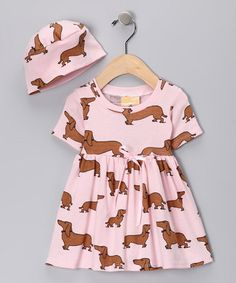Take a look at this Haute Dog Dolly Dress & Beanie - Infant & Toddler by Splendidly Sweet: Girls' Apparel on #zulily today!