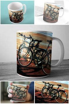 Photographic Art Mug Bicycle on Hastings Prom  #photographicart #muglife #hastingsphotography #prandski