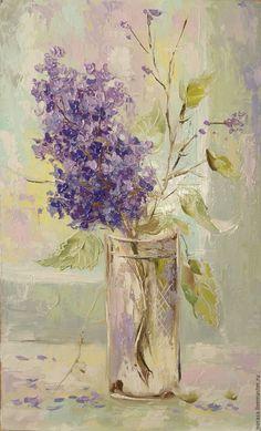 Oil painting / Купить Ветка сирени . - разноцветный, картина, картина в подарок, картина для интерьера, картина маслом, сиреневый