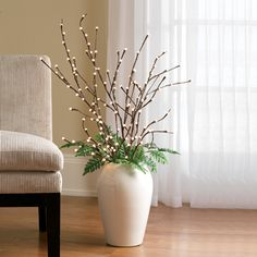 Lighted Pussy Willow Branches (signals.com Item #HK4532 L)