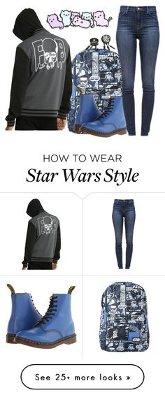 """Untitled #1833"" by frerardforever on Polyvore featuring Dr. Martens and J Brand"