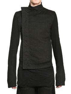 Gareth Pugh Heavy Jersey Denim Jacket - Lyst