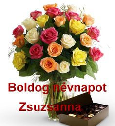 Boldog névnapot Zsuzsanna - Megaport Media Share Pictures, Animated Gifs, Name Day, Diy And Crafts, Floral Wreath, Wreaths, Halloween, Birthday, Decor