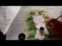 COMO PINTAR A GATA MARIE, DEITADA NA GRAMA - VÍDEO AULA GRÁTIS DE PINTURA EM TECIDO - YouTube