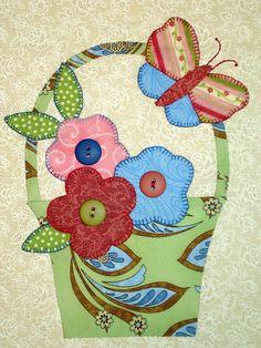 Cesta flor pássaro agulha virada