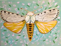 18X14 - LIZA THE MOTH | Lulie Wallace
