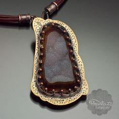 Secret Landscape Drusy Agate Necklace Handcrafted Unique Art Jewelry #popnicute #jewelry