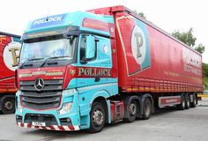 https://flic.kr/p/Mep8RP | Mercedes Actros 6x2 Pollock CannyScot T4PSL Curtain Box Frank Hilton IMG_7943