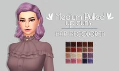 "sim-tastic: "" Medium Pulled Up Curls 