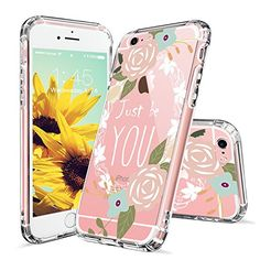 Amazon.com: iPhone 6s Plus Case, iPhone 6 Plus Case Slim, MOSNOVO Floral with Flower Quote Clear Design Plastic Back Case and TPU Bumper Protective Cover for Apple iPhone 6/6s Plus (5.5 Inch) - Cloth Yourselves: Cell Phones & Accessories