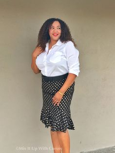 Target Shirt, Belt, and Who What Wear Skirt - New Years Eve: Just a Little Bit of Gold – Mix It Up With Curves
