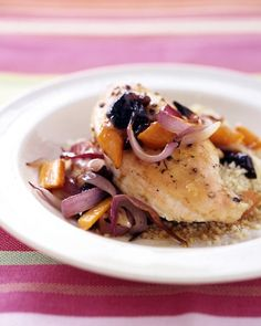 Roasted Chicken Breasts with Carrots and Onions - Martha Stewart Recipes