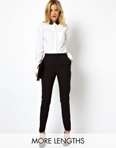 Brand New ASOS High Waist Trousers with Zips Size 12 RRP £25