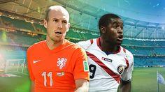 Holanda vs. Costa Rica en vivo por los cuartos de final de la Copa del Mundo - http://futbolonlinetv.wordpress.com