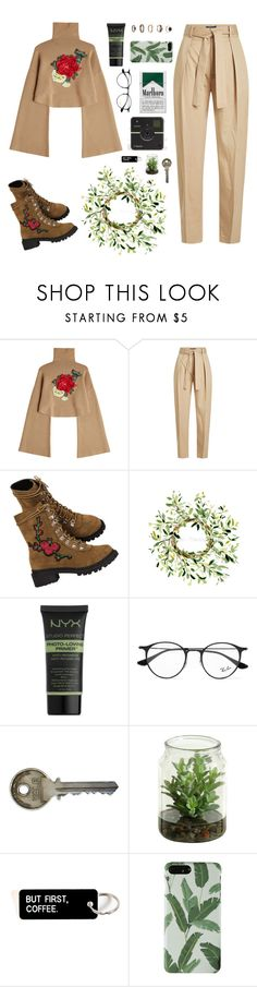 """""""Brown Flowers"""" by ori-me on Polyvore featuring мода, William Fan, Polo Ralph Lauren, NYX, Ray-Ban и Forever 21"""