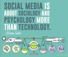 """Social Media is about sociology and psychology more than technology"". The way people think and how they react is more important for marketers than the technology on the platform they use. Sociology, Platform, Social Media, Technology, Marketing, Photo And Video, People, Life, Instagram"