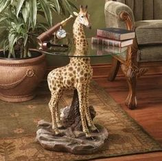 Table giraffe home decor