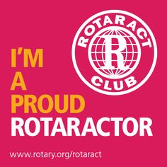 August is Membership Month at #Rotary. Share this graphic to let your friends know that you're a proud Rotaractor. #WeAreRotary #Rotaract