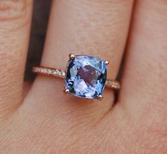 Tanzanite Ring. Rose Gold Engagement Ring by EidelPrecious on Etsy Obsessed.