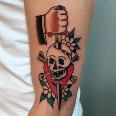 Skull and Dagger Tattoo Tattoo by Christian Otto