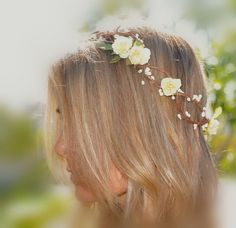Flower Hair Wreath Bohemian Flower Crown by ShepherdoftheSea, $30.00