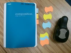 The Middle School Mouth - index tab punch for comp books