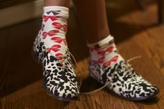 I'm a crazy sock fanatic. Wherever I go I buy socks, mismatched socks, funny socks. Tibi shoes