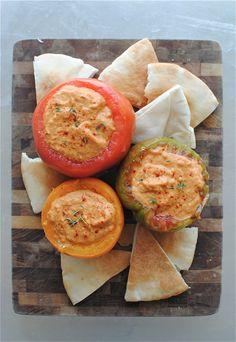 Roasted Tomato Hummus / Bev Cooks