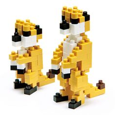 So long run-of-the-mill construction. Create a 3D meerkat with Nanoblock! These meerkat are a miniature puzzle, and so much fun you wont believe it. Micro-sized Nano building blocks enable you to execute even the finest details like never before! Just look at the cute little meerkats on the lookout!  These little meerkat fit in the size of your palm and is made with durable plastic. Nanoblock is a micro-sized building block system with its smallest piece being a mere 4mm x 5mm.