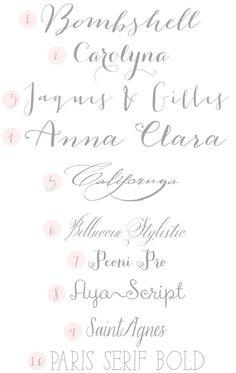 Calligraphy Wedding Fonts