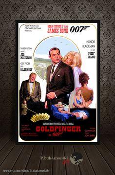JAMES BOND Goldfinger movie poster / print by PLukaszewskiArt