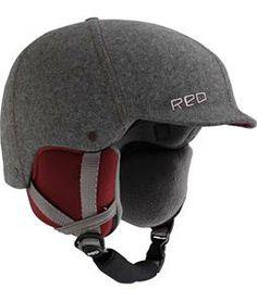 Red Mutiny Snowboard Helmet Gray Fabric