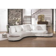 Modern Leather Sectional Sofa - 2229BC  - 1625.0000